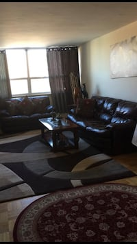 2&3 Brown leather sofa seat only Toronto, M1K 2N4