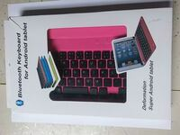 Bluetooth pink keyboard for Android Tablets 1025 mi