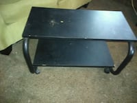 black 2-layer TV stand Cedar Falls, 50613