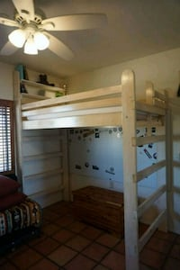 Solid wood custom built college loft bed  Yucca Valley, 92284