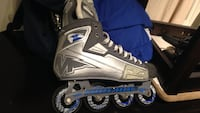 Unpaired black and gray inline skate Montreal, H1X 2S2