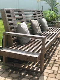 Wooden outside sitting bench, couch Bradenton, 34212