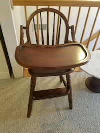 brown wooden round table with chair Rocky Ridge, 21778