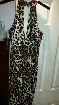 brown and black leopard print sleeveless dress Laval, H7T 1K8
