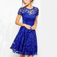 New short dress blue and red size is S Brampton, L6Y 5M9