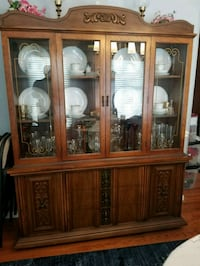brown wooden china cabinet with glass display cabinet Fort Washington, 20744