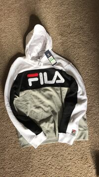 Fila hoodie black,white and grey 60$ #gucci #supreme #nike # vape #jordan Winnipeg, R2M 1T4