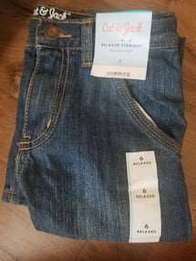 child white shirt size: 6 and two jeans size: (6-8)