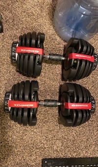 Bowflex Dumbells with Stand