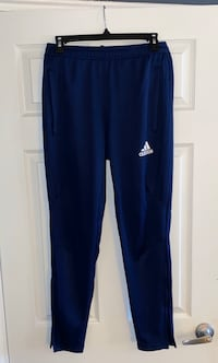 Adidas track pants Blue with White logo Sz S Small