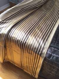 Brown and neutral shade striped textile