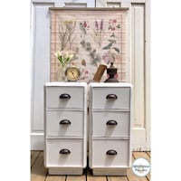 Shabby chic retro pair of solid wood night stands Mississauga, L5G 2K4
