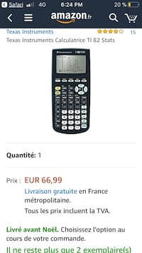 Capture d'écran de Texas Instruments Calculatrice TI-82 Stats