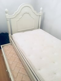 Trundle bed , two mattresses, nite stand and five draw dresses in very good shape Port Moody, V3H 4V7
