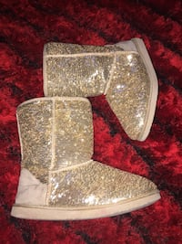 Old navy gold sequin boots