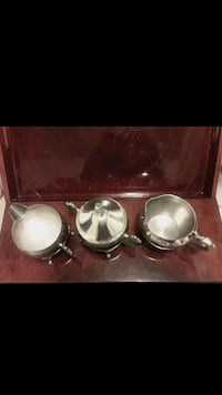 4-Piece Vintage Silver Coffee Set, Footed Pitcher & Sugar Container ..