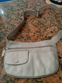 women's gray leather shoulder bag 48 km