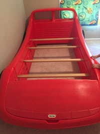 Red little tikes car bed frame- 2 available.