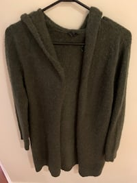 Comfy green hoodie sweater jacket (xs)