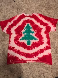 XL Christmas tree tie dyed T-shirt Noblesville, 46060