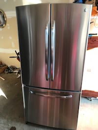 GE stainless steel French door bottom freezer in good condition the dimensions is H  [TL_HIDDEN]   ice maker and water dispenser inside  42 km
