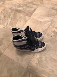 Pair of blue-and-white nike basketball shoes. Size 8 Regina, S4P 2P5