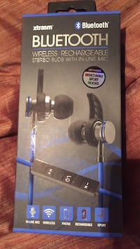 Bluetooth wireless rechargeable stereo buds with in-line mic Roswell, 30076