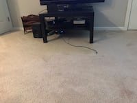 Black wooden tv stand with mount Milford, 06460