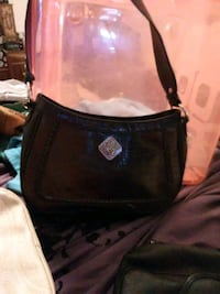 black and brown leather crossbody bag Eagle Point, 97524