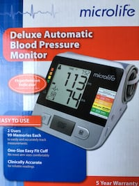 Deluxe Automatic Blood Pressure Monitor Montgomery Village, 20886