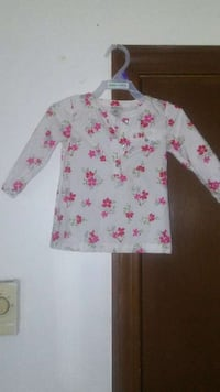 white, pink, and green floral print button up shirt North Providence, 02904