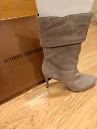 Brand New Audrey Brooks Grey Dressy Boots 9.5 Washington, 20003