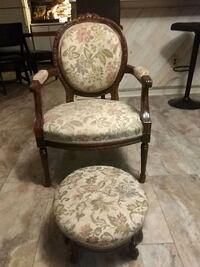 Antique chair and ottoman.