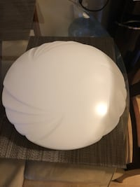 Lithonia Lighting Crenelle 14 in. White LED Round Flushmount with Scalloped Acrylic Diffuser Riverside, 92507