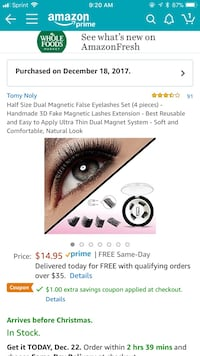 Fake magnetic 3d lashes Anaheim, 92802