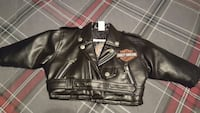 black harley davidson motorcycles leather crop top biker jacket