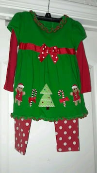Little girls Christmas outfit. Antioch, 94509