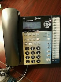 black and gray AT&T IP telephone