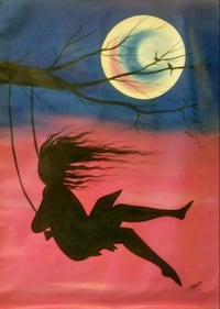 Unstretched Girl Swinging in the Wind Painting Washington, 20011