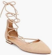 Mossimo tan lace up flats