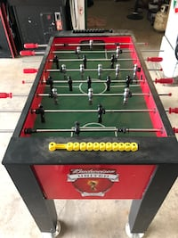 black and red foosball table Maple Ridge, V2X 3A9