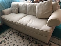 white leather 2-seat sofa Silver Spring, 20903