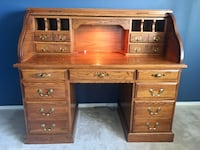 Solid Oak Nathan Hale Roll Top Desk Woodbridge, 22192