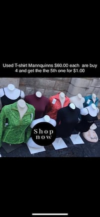 Used T-shirt Mannequins Dallas, 75216