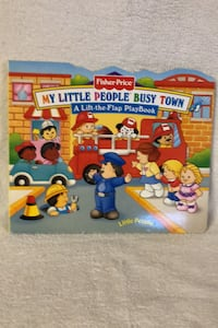 """Fisher Price Little People """"Flap"""" book, Busy Town theme"""