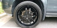 black 5-spoke car wheel with tire Gaithersburg, 20879