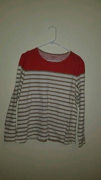 red and gray stripe scoop-neck sweater 2222 mi