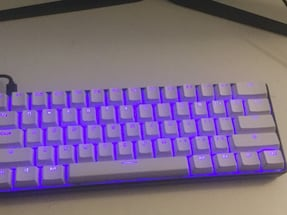 60% mechanical keyboard RGB hot swappable with blue switches