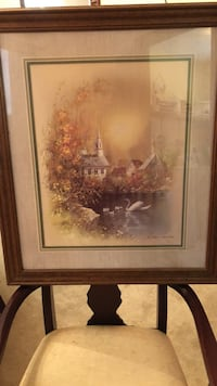 white swan painting with brown frame East Stroudsburg, 18302
