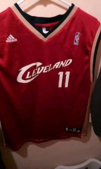red and white Cleveland Cavaliers Ilgauskas  Cleveland, 44109